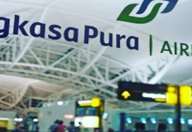 Trafik penumpang naik di bandara AP I