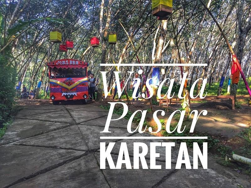 wisata unik di semarang, Pasar Karetan. pasar dipinggir hutan karet